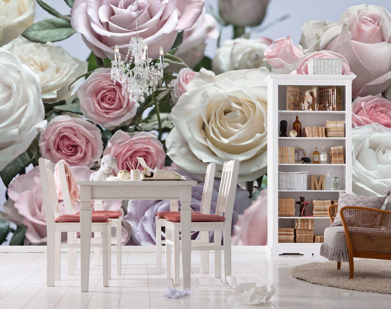 Фотообои на стену «Цветы розы». Komar 8-736 ...: 100oboi.ru/catalog/fotooboi/8_parts/komar_8_736_floraison