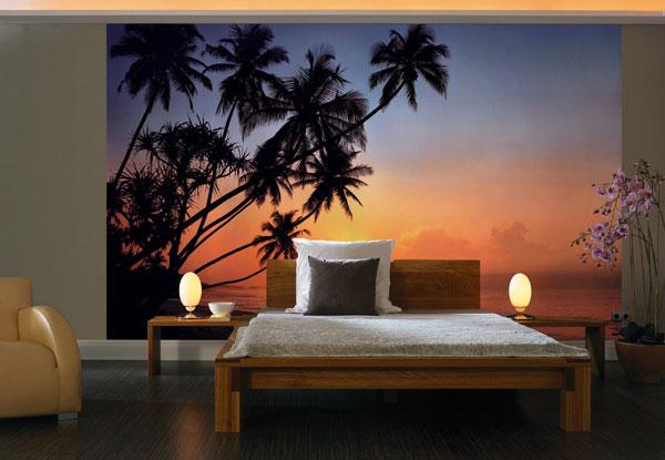 Фотообои на стену «Закат в тропиках ...: 100oboi.ru/catalog/fotooboi/8_parts/komar_8_030_tropical_sunset